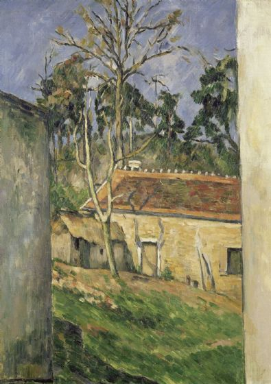 Cezanne, Paul: Farmyard. Fine Art Print/Poster. Sizes: A4/A3/A2/A1 (004230)